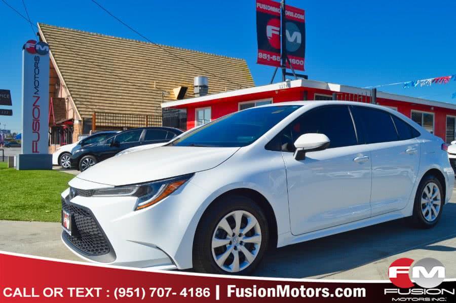 Used Toyota Corolla LE CVT (Natl) 2020 | Fusion Motors Inc. Moreno Valley, California