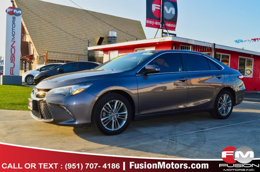 Used Toyota Camry 4dr Sdn I4 Auto XLE (Natl) 2015 | Fusion Motors Inc. Moreno Valley, California