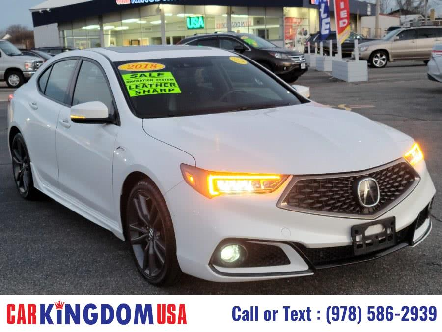 Used Acura TLX A-Spec SH-AWD Luxury Sport Sedan with The Acuralink Advance Technology Package. 2018 | Car Kingdom USA. Lawrence, Massachusetts
