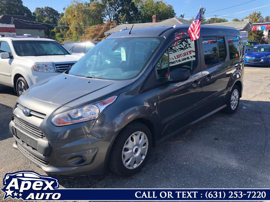 2017 Ford Transit Connect Wagon XLT LWB w/Rear Symmetrical Doors, available for sale in Selden, NY