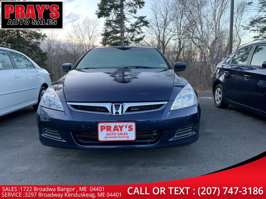 Used 2007 Honda Accord Sdn in Bangor , Maine | Pray's Auto Sales . Bangor , Maine