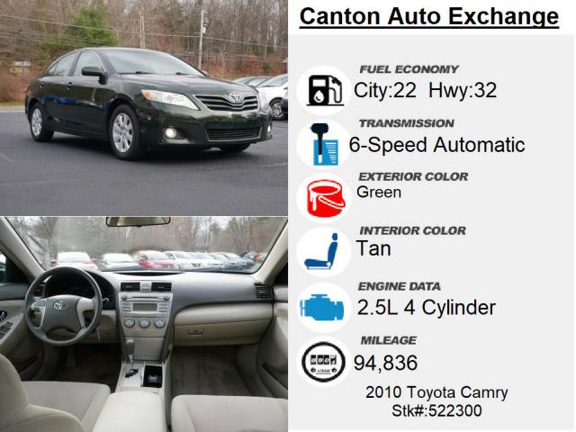 Used Toyota Camry XLE 2010   Canton Auto Exchange. Canton, Connecticut