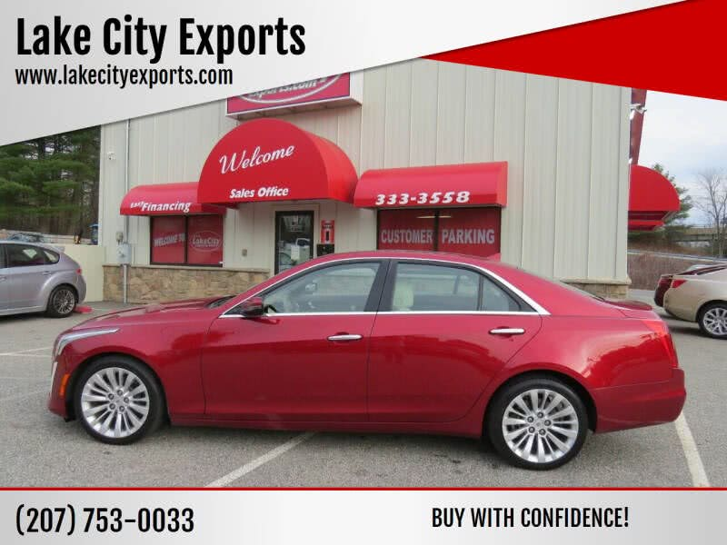 Used Cadillac Cts 2.0T Luxury Collection AWD 4dr Sedan 2014 | Lake City Exports Inc. Auburn, Maine