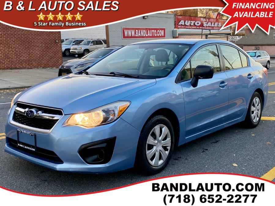 Used Subaru Impreza Sedan 4dr Auto 2.0i 2012   B & L Auto Sales LLC. Bronx, New York
