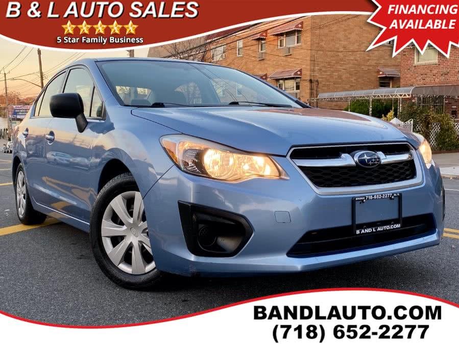 Used 2012 Subaru Impreza Sedan in Bronx, New York | B & L Auto Sales LLC. Bronx, New York