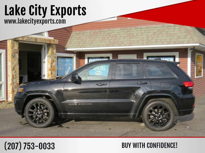 Used Jeep Grand Cherokee Altitude 4x4 4dr SUV 2018   Lake City Exports Inc. Auburn, Maine
