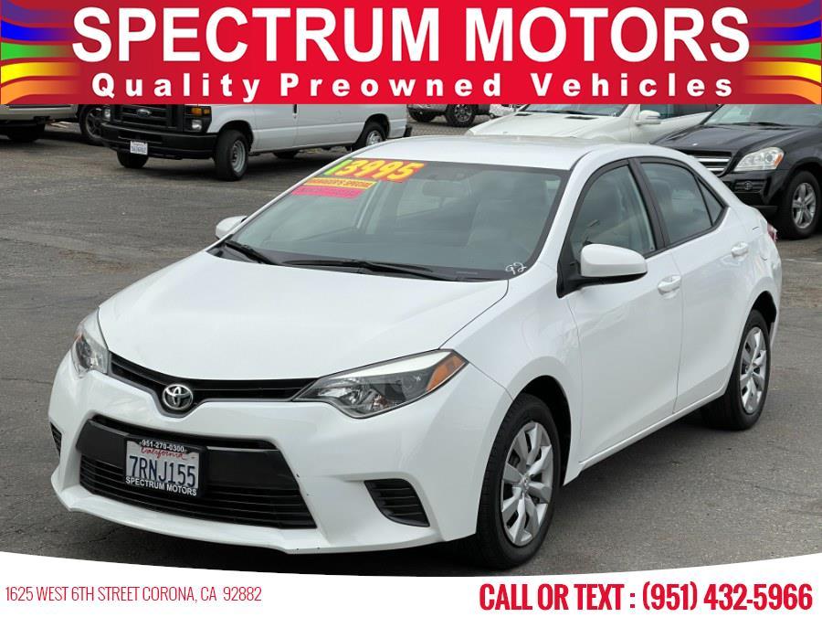 Used 2016 Toyota Corolla in Corona, California | Spectrum Motors. Corona, California