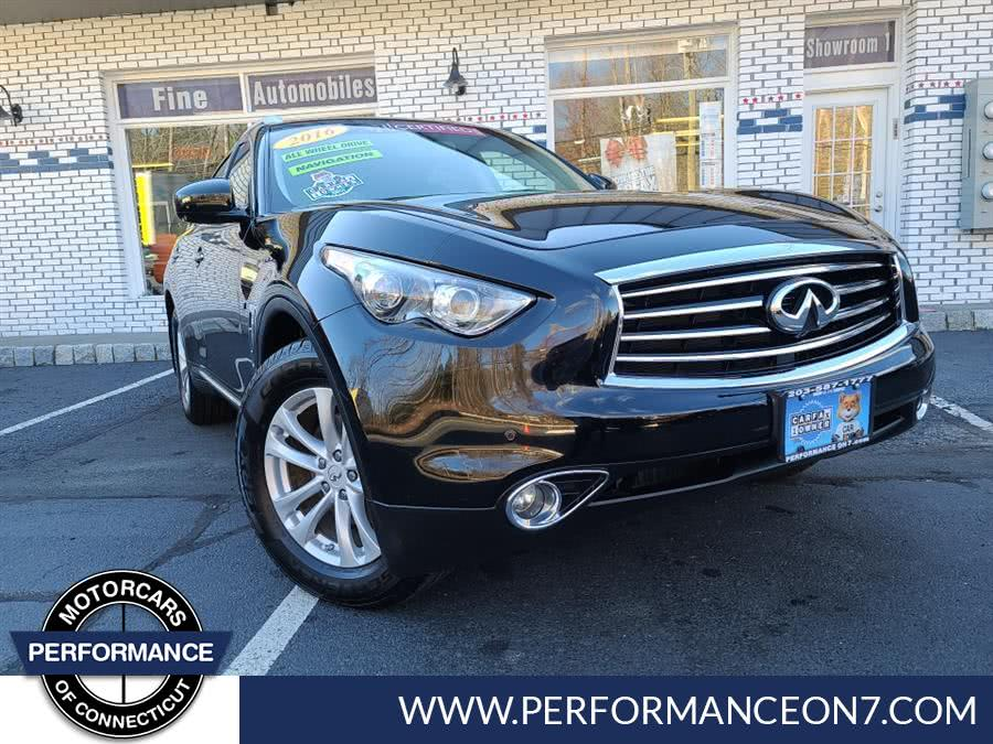 Used 2016 INFINITI QX70 in Wilton, Connecticut | Performance Motor Cars. Wilton, Connecticut