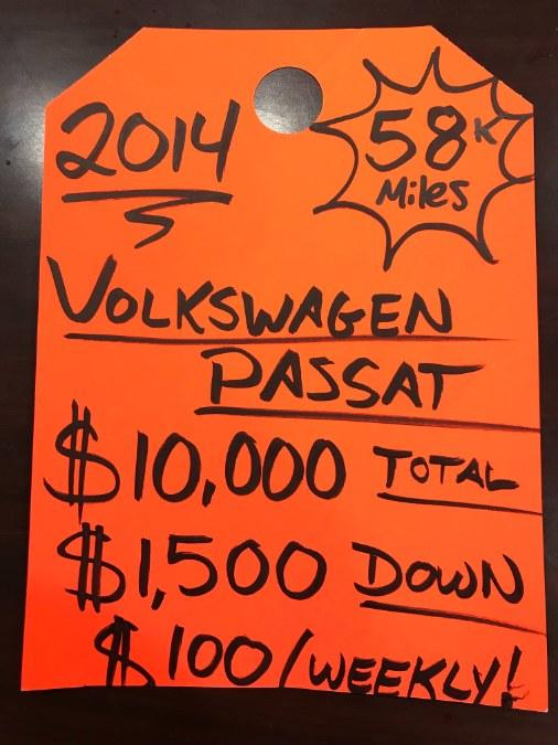 Used Volkswagen Passat 4dr Sdn 1.8T Auto Wolfsburg Ed PZEV 2014 | 5M Motor Corp. Hamden, Connecticut