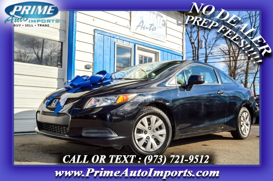 Used 2012 Honda Civic Cpe in Bloomingdale, New Jersey | Prime Auto Imports. Bloomingdale, New Jersey