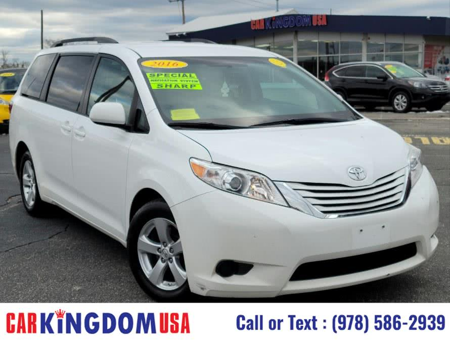 Used Toyota Sienna LE 8-Passenger Mini Van with The Toyota Touch Screen Technology Package. 2016 | Car Kingdom USA. Lawrence, Massachusetts