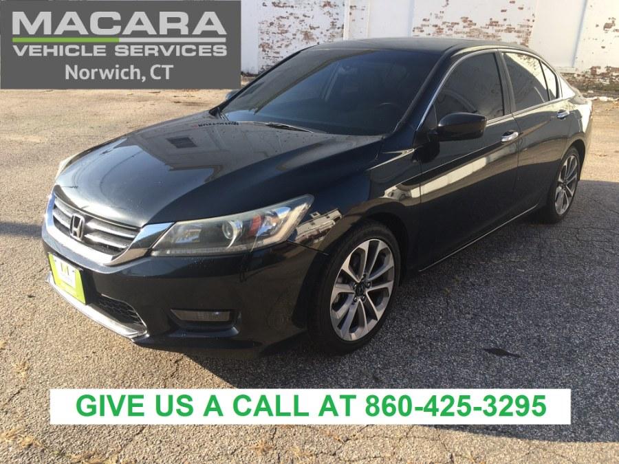 Used Honda Accord Sedan 4dr I4 CVT Sport 2015 | MACARA Vehicle Services, Inc. Norwich, Connecticut