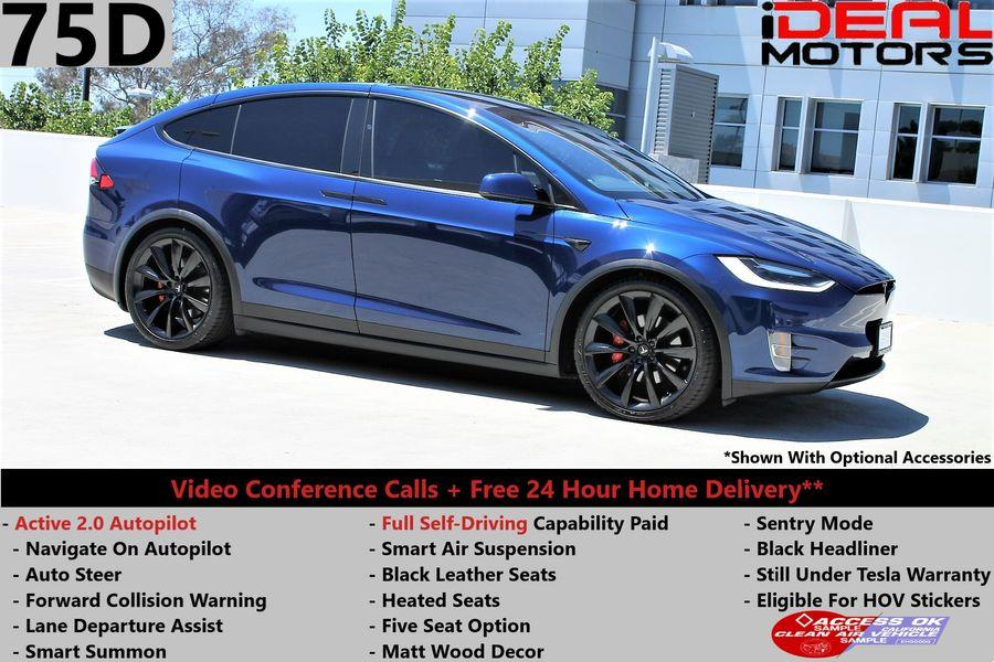 Used Tesla Model x 75D Sport Utility 4D 2016 | Ideal Motors. Costa Mesa, California