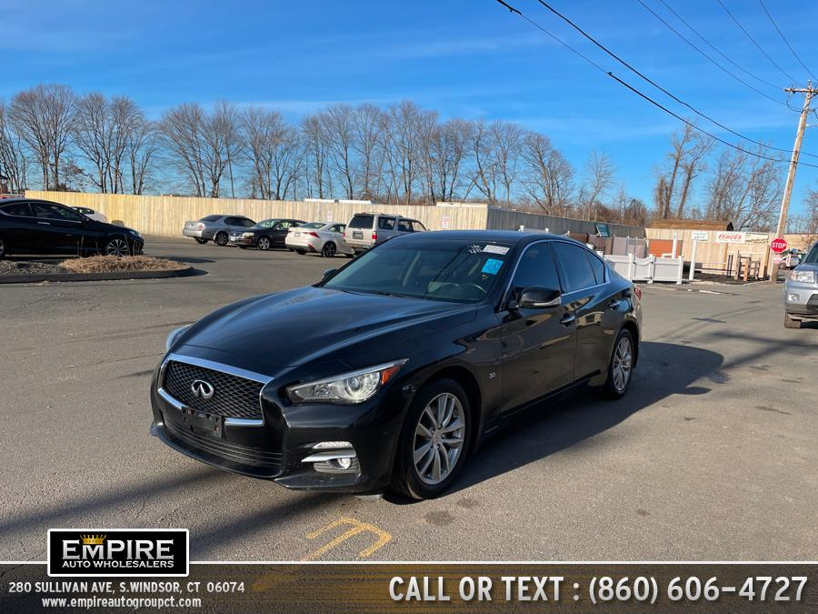 Used INFINITI Q50 4dr Sdn 3.0t Premium AWD 2016 | Empire Auto Wholesalers. S.Windsor, Connecticut