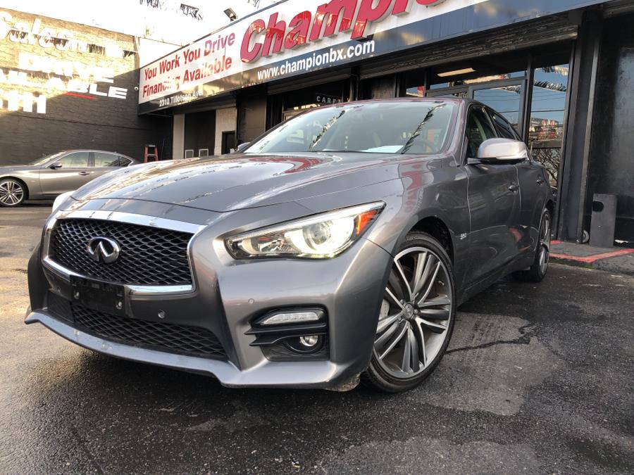 Used 2016 INFINITI Q50 in Bronx, New York | Champion Auto Sales Of The Bronx. Bronx, New York