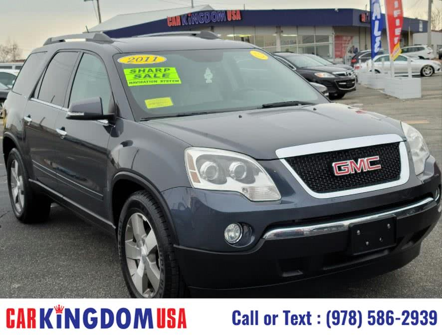 Used GMC Acadia Denali SLT2 7-Passenger AWD SUV with The GPS Navigation & Rear Entertainment DVD System 2011 | Car Kingdom USA. Lawrence, Massachusetts