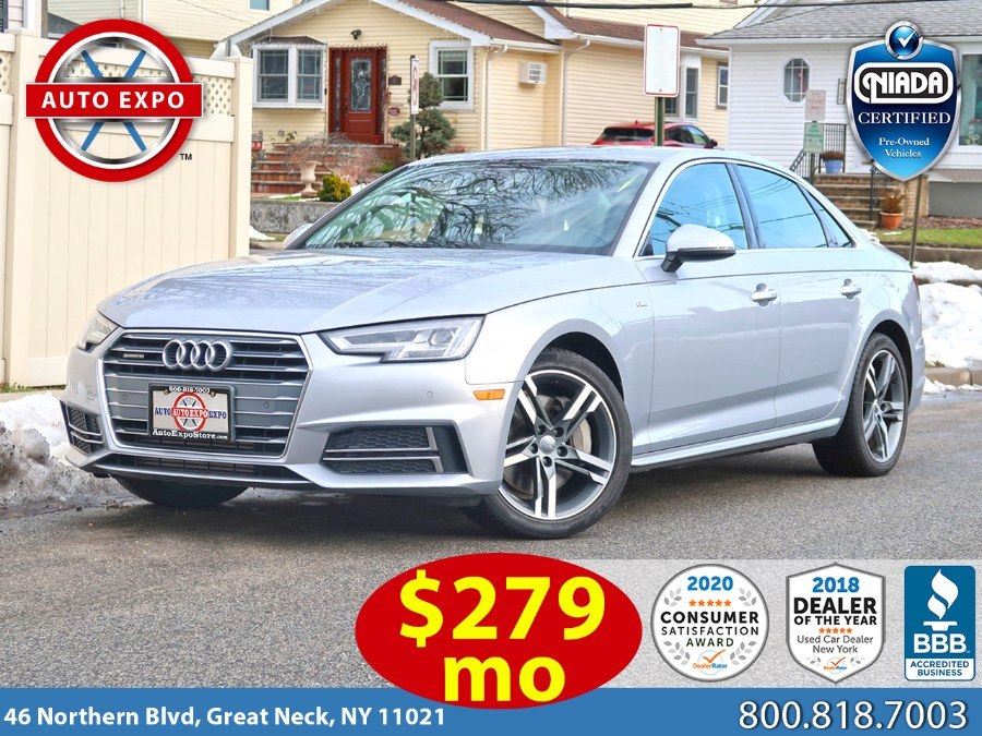 Used 2018 Audi A4 in Great Neck, New York | Auto Expo Ent Inc.. Great Neck, New York