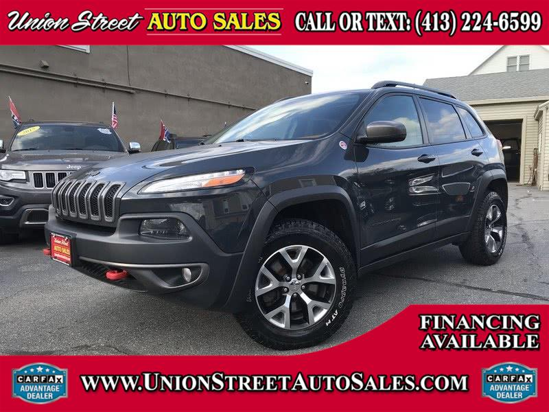 Used Jeep Cherokee 4WD 4dr Trailhawk 2016 | Union Street Auto Sales. West Springfield, Massachusetts