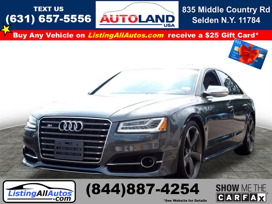 Used 2016 Audi S8 in Patchogue, New York | www.ListingAllAutos.com. Patchogue, New York