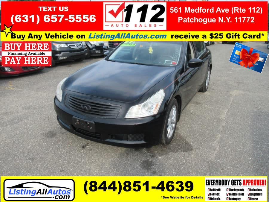 Used 2009 Infiniti G37 Sedan in Patchogue, New York | www.ListingAllAutos.com. Patchogue, New York