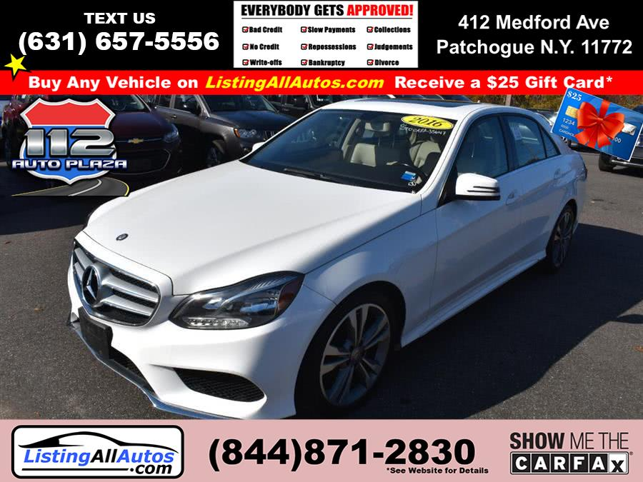 Used Mercedes-benz E-class 4dr Sdn E 350 Luxury 4MATIC 2016 | www.ListingAllAutos.com. Patchogue, New York