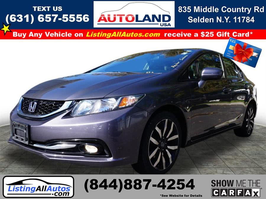 Used Honda Civic EX-L w/Navi 2015   www.ListingAllAutos.com. Patchogue, New York