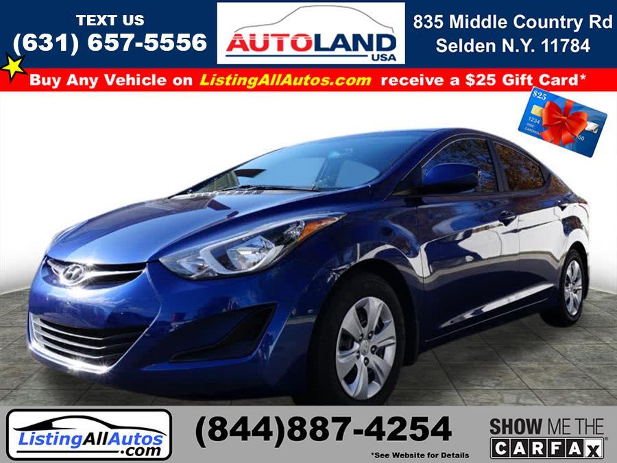 Used Hyundai Elantra SE 2016 | www.ListingAllAutos.com. Patchogue, New York