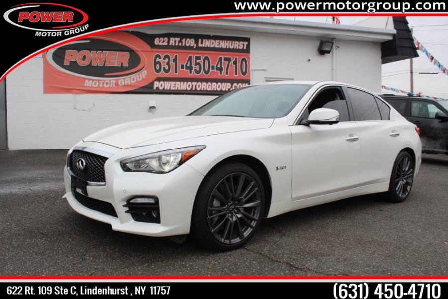 Used INFINITI Q50 4dr Sdn 3.0t Red Sport 400 AWD 2016 | Power Motor Group. Lindenhurst , New York