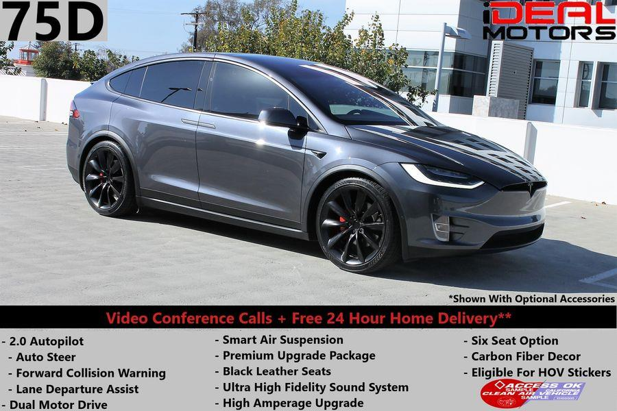 Used Tesla Model x 75D Sport Utility 4D 2017 | Ideal Motors. Costa Mesa, California