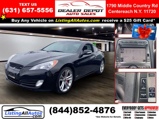 Used Hyundai Genesis Coupe 2dr 3.8L Auto Grand Touring w/Blk Lth *Ltd Avail* 2011 | www.ListingAllAutos.com. Patchogue, New York