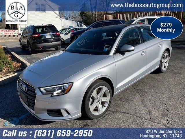 Used 2018 Audi A3 Sedan in Huntington, New York | The Boss Auto Group . Huntington, New York