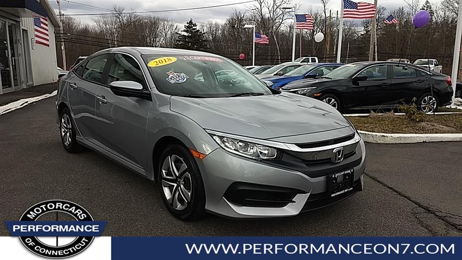 Used Honda Civic Sedan LX CVT 2018 | Performance Motor Cars. Wilton, Connecticut
