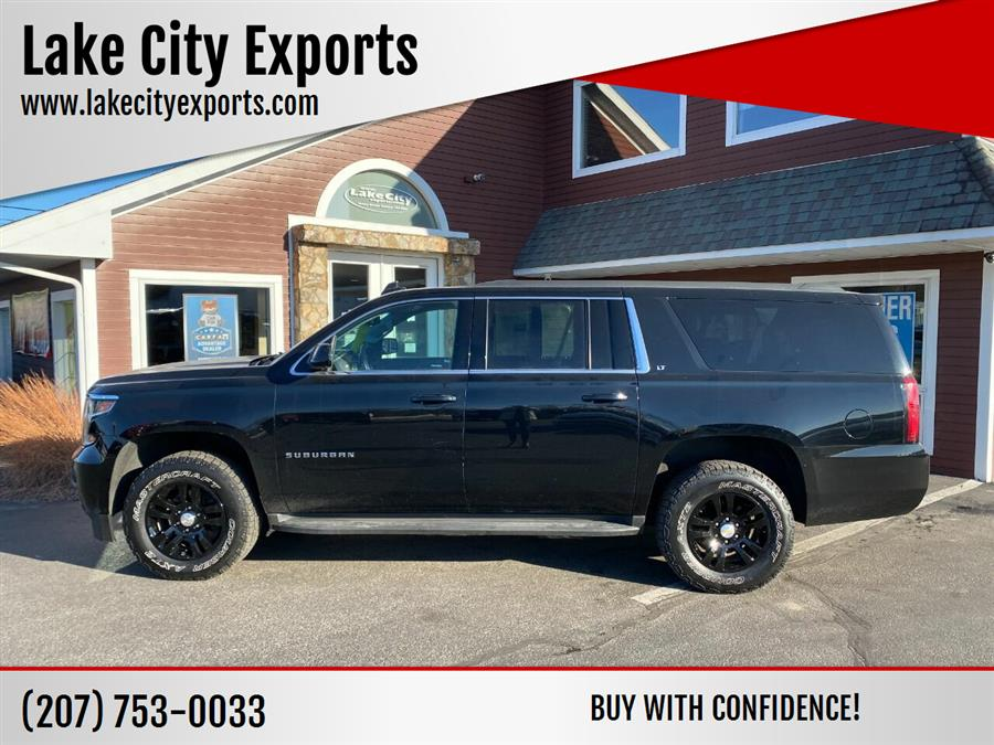 Used Chevrolet Suburban LT 1500 4x4 4dr SUV 2016 | Lake City Exports Inc. Auburn, Maine