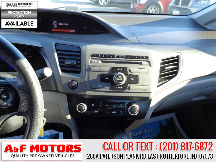 Used Honda Civic Sdn 4dr Auto LX PZEV 2012   A&F Motors LLC. East Rutherford, New Jersey