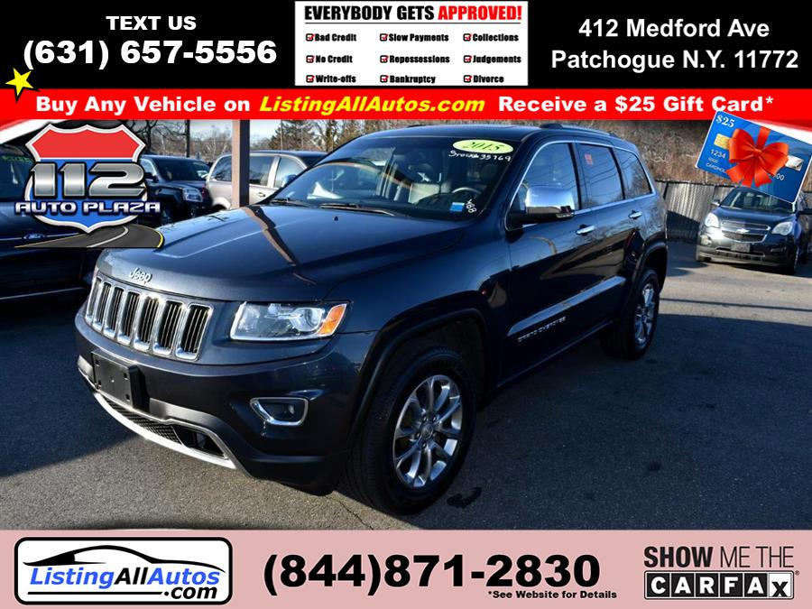 Used Jeep Grand Cherokee 4WD 4dr Limited 2015 | www.ListingAllAutos.com. Patchogue, New York