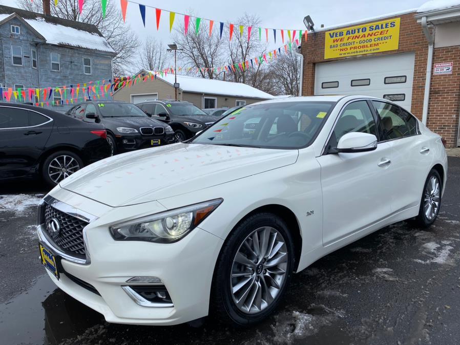 Used INFINITI Q50 3.0t LUXE AWD 2018 | VEB Auto Sales. Hartford, Connecticut
