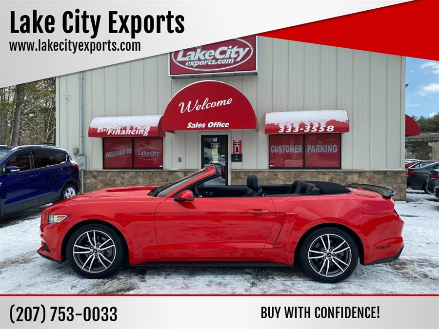 Used Ford Mustang EcoBoost Premium 2dr Convertible 2016 | Lake City Exports Inc. Auburn, Maine