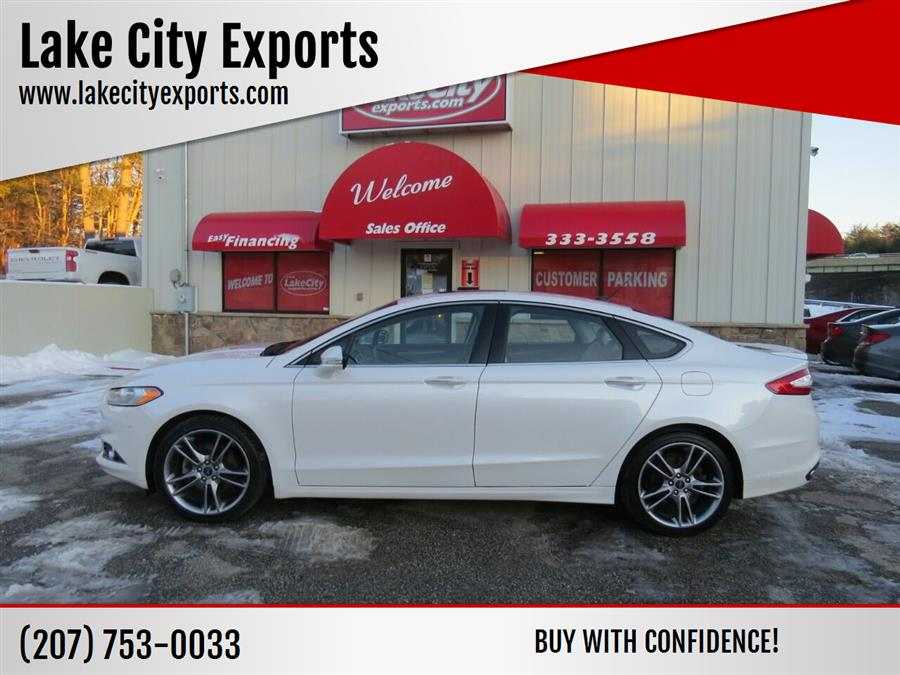 Used Ford Fusion Titanium AWD 4dr Sedan 2015 | Lake City Exports Inc. Auburn, Maine