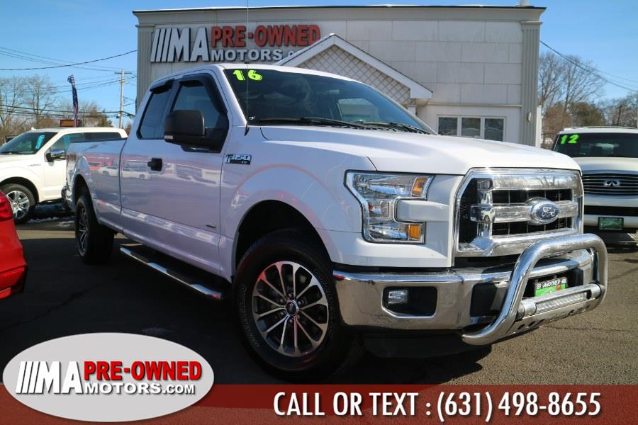 "Used Ford F-150 with 8ft bed 4WD SuperCab 163"" XLT LB 2016 