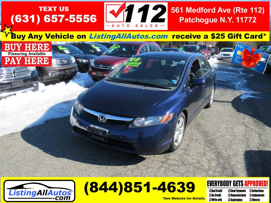 Used 2008 Honda Civic Sdn in Patchogue, New York | www.ListingAllAutos.com. Patchogue, New York