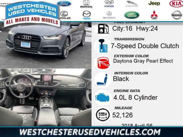 Used Audi S6 4.0T Premium Plus 2018   Westchester Used Vehicles. White Plains, New York