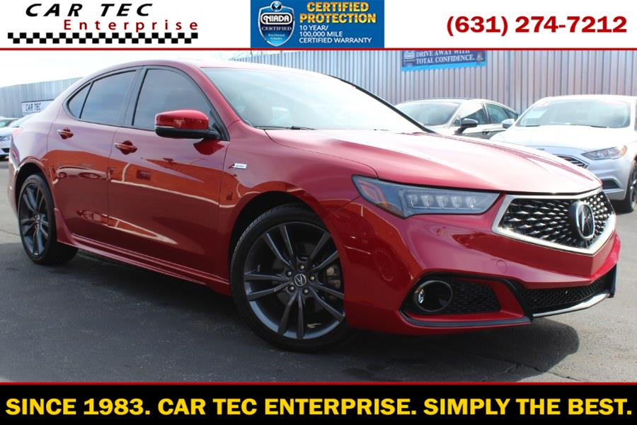 Used Acura TLX 3.5L FWD w/A-Spec Pkg Red Leather 2019 | Car Tec Enterprise Leasing & Sales LLC. Deer Park, New York