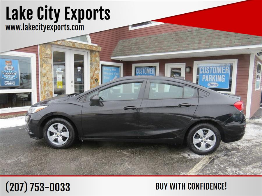 Used Chevrolet Cruze LS Manual 4dr Sedan 2017 | Lake City Exports Inc. Auburn, Maine