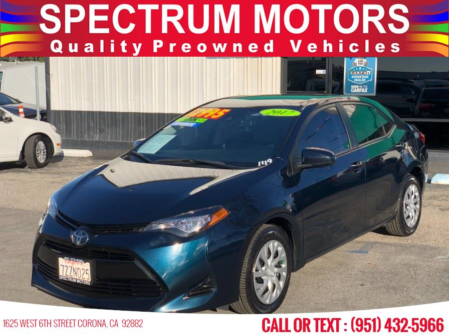 Used 2017 Toyota Corolla in Corona, California | Spectrum Motors. Corona, California