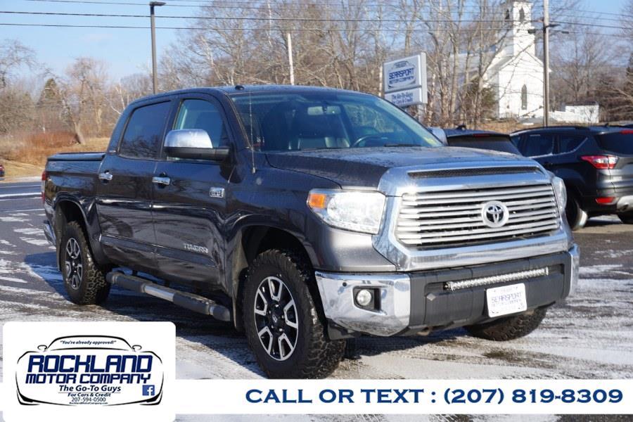 Used Toyota Tundra 4WD Truck CrewMax 5.7L V8 6-Spd AT LTD (Natl) 2014   Rockland Motor Company. Rockland, Maine