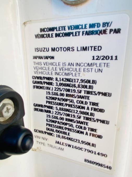 Used Isuzu NQR 17995 lb GVW ! 2012 | NJ Truck Spot. South Amboy, New Jersey