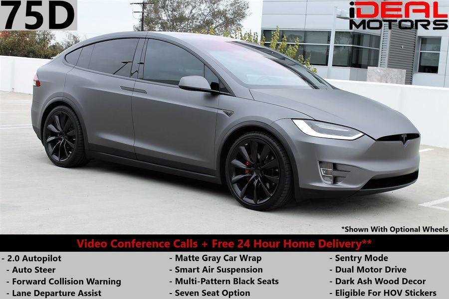Used Tesla Model x 75D Sport Utility 4D 2017 | Ideal Motors. Costa Mesa, California