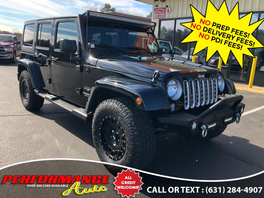 Used Jeep Wrangler Unlimited 4WD 4dr Sahara 2016 | Performance Auto Inc. Bohemia, New York