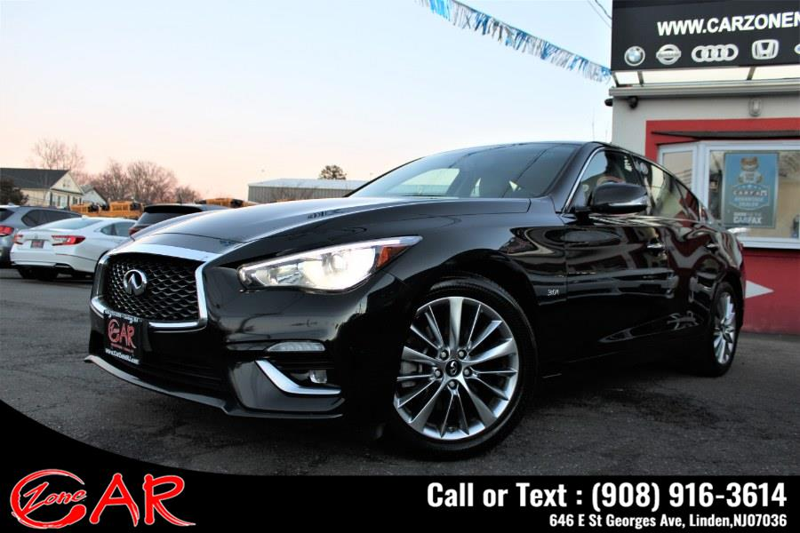 Used INFINITI Q50 3.0t LUXE AWD 2018 | Car Zone. Linden, New Jersey