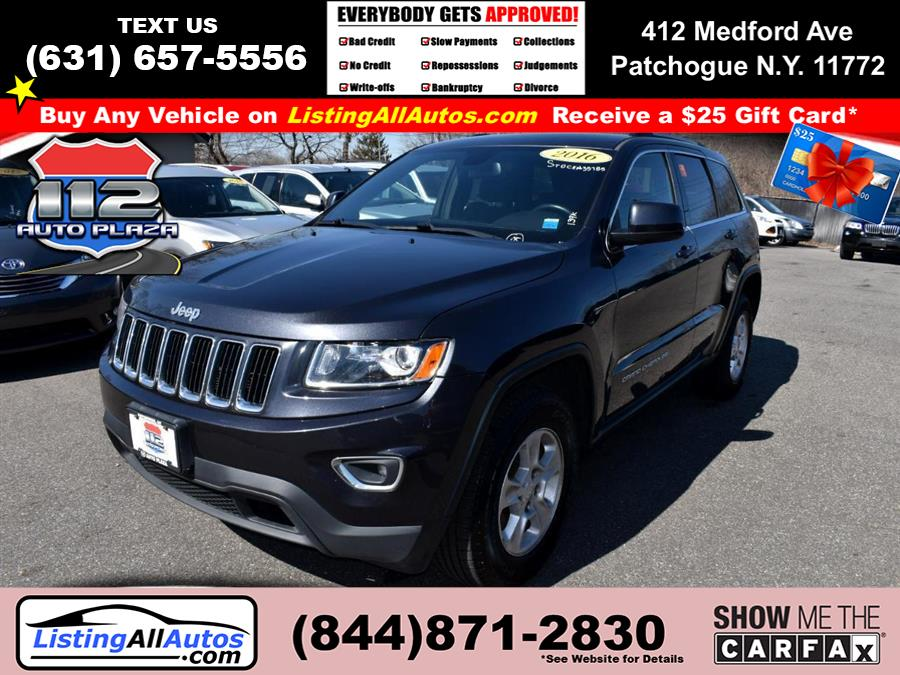 Used Jeep Grand Cherokee 4WD 4dr Laredo 2016 | www.ListingAllAutos.com. Patchogue, New York